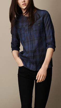 Shirts for Women Casual Fall Outfits, Plaid Shirt Outfits, Blouse Designs, Casual Shirts, Ideias Fashion, Fashion Outfits, Clothes For Women, Tunics, Shirt Patterns For Women