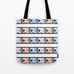 Movie stripes Tote Bag by cocodes Striped Tote Bags, Buy Movies, Reusable Tote Bags, Stripes, Stuff To Buy