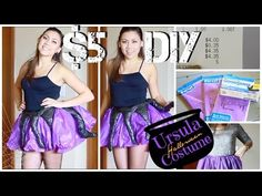 $5 DIY Ursula Costume - YouTube