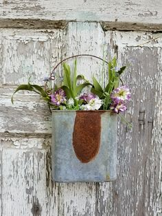 Looking for a touch of rustic farmhouse home decor? Pictured here galvanized petite wall pocket with life-like sprig. Farmhouse Homes, Rustic Farmhouse, Cake Stand Display, Home Decor Pictures, Shop Front Design, Wall Pockets, Bee Keeping, Store Fronts, Exterior Colors