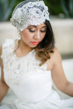 Latina bride 2, coral lips suit the complexion nicely