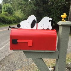 Your place to buy and sell all things handmade Funny Mailboxes, Unique Mailboxes, Painted Mailboxes, Mailbox Garden, Mailbox Ideas, Backyard Projects, Wood Projects, Quebec, Landscaping