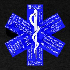 Shop Funny EMS Acronyms Dark T-Shirt designed by The EMT Store. Ems Humor, Paramedic Humor, Work Humor, Funny Humor, Funny Shit, Funny Stuff, Ems Quotes, Emergency Medical Services, Emergency Response