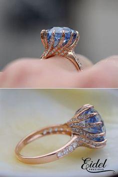 Sapphire Engagement Rings By Eidel Precious ❤ See more: http://www.weddingforward.com/eidel-precious-engagement-rings/ #weddingforward #bride #bridal #wedding