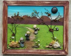 Pebble Art Rock Art Three Sisters Cousins Friends von CrawfordBunch