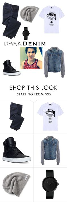 """""""Austin Mahone Casual"""" by chwalkerodom ❤ liked on Polyvore featuring TravelSmith, Stussy, Supra, Aéropostale, Converse, men's fashion, menswear, darkdenim and menswearessential"""