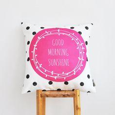 """Modern Decorative Pillow, Hot Pink Nursery Pillow, Geometric Kids Pillow, Throw Pillow 16"""" x 16"""""""