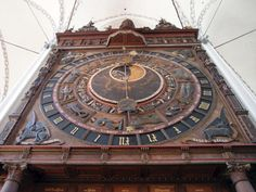 century astronomical clock of St. Mary's Church in Rostock, Germany Saxony Anhalt, Rhineland Palatinate, Lower Saxony, North Rhine Westphalia, 15th Century, Bavaria, Clocks, Big Ben, Netherlands