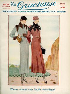 1930s Fashion, Retro Fashion, Vintage Fashion, Vintage Dress Patterns, Vintage Dresses, 1900 Clothing, Fashion Illustration Vintage, Art Deco Posters, German Fashion
