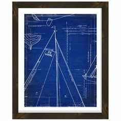 """Matted giclee print with a sailboat motif and reclaimed wood frame.  Product: Giclee printConstruction Material: Paper, glass and reclaimed woodColor: Black frameFeatures: Ready to hangDimensions: 26"""" H x 22"""" W x 0.5"""" D"""