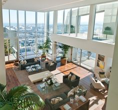 Designed by Arthur McLaughlin, this 20,000 sq.ft. penthouse is situated on the top of the St Regis Hotel Tower in San Francisco