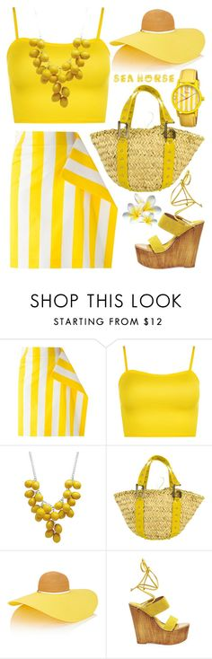"""""""Sea,Sand&Sun"""" by grozdana-v ❤ liked on Polyvore featuring Jacquemus, WearAll, Dolce&Gabbana, Eugenia Kim, Steve Madden and Boum"""