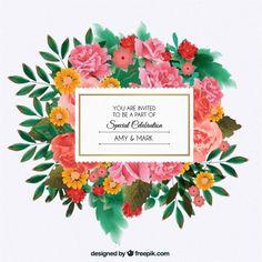 Convite floral para o casamento