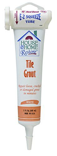 Red Devil 0438 Tile Grout, EZ Squeeze White, 5-Ounce Red ... https://www.amazon.com/dp/B000KEU2KE/ref=cm_sw_r_pi_dp_U_x_09TOAb4H6JAZP