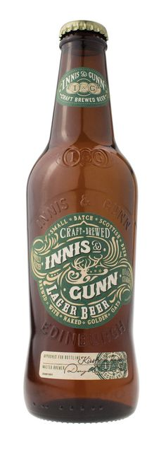 Innis & Gunn Lager  I must look up the Gunn part of this some time and add it to http://clangunn.weebly.com - and Gunn Estate wines in New Zealand. I like both!