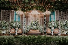 Wedding Backdrop Ideas Luxury 52 Ideas For 2019 Wedding Backdrop Design, Wedding Stage Design, Rustic Wedding Backdrops, Wedding Stage Decorations, Pastel Colour Bridesmaid Dresses, Indonesian Wedding, Javanese Wedding, Luxury Wedding Decor, Wedding Mood Board