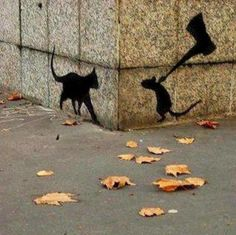 Funny pictures about Clever Graffiti. Oh, and cool pics about Clever Graffiti. Also, Clever Graffiti photos. 3d Street Art, Amazing Street Art, Street Art Graffiti, Amazing Art, Graffiti Artwork, Banksy Art, Street Artists, Stencil Graffiti, Amazing Things