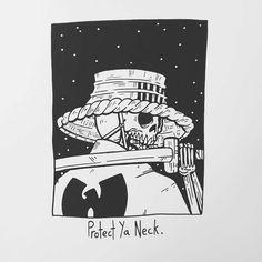 "20.5 mil Me gusta, 254 comentarios - Matt Bailey (@baileyillustration) en Instagram: ""Protect Ya Neck."""