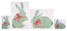 Kate Dickerson's Christmas bunnies - in large and mini sizes