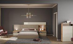 Exquisito dormitorio de matrimonio. Excelente diseño moderno , con una calidad insuperable. Descubre posibles combinaciones de acabado. ¡No te lo pierdas! #dormitoriosmodernos