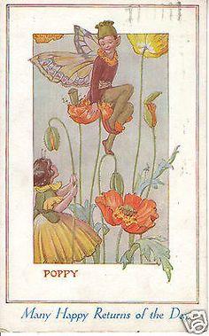 Margaret Tarrant: Poppy - Fairies - Many Happy Returns - PC PU 1938 (P753)