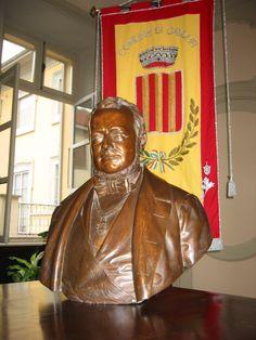 Il busto di Camillo Benso Conte di Cavour conservato in Municipio (Archivio Comune di Cavour) [Apre una nuova finestra] Conte, Image