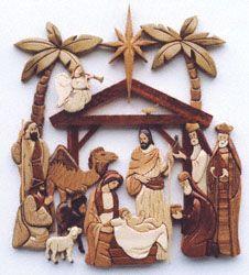 Intarsia Nativity