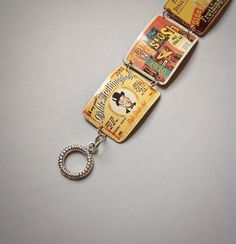Tin jewelry, Vintage beer can, tin bracelet, Frothingslosh beer, upcycled recycled repurposed, ecofriendly by CellarDoorShoppe - Recycled tin can - Biscuit tin - Candy tins - Statement necklace - Handmade metal art - upcycled recycled repurposed - DIY - contemporary antique style