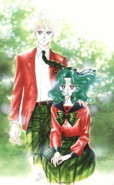 Haruka and Michiru, artwork by Naoko Takeuchi for Sailormoon