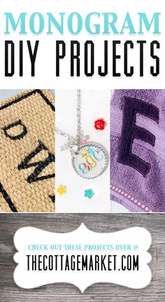 Do you love Monograms?  Do you love how your favorite letter looks on towels? Jewelry? Front Door Mat?  Any where you can put it?  Well if you answered yes to any of those questions…this Collection of Monogram DIY Projects is perfect for you!   http://www.thecottagemarket.com/2014/03/monogram-diy-projects.html
