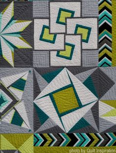 Quilt Inspiration: Modern Quilt Month 2018 What makes a quilt modern? According to The Modern Quilt Guild , the characteristics may include the use of bold colors and prints, high . Scrappy Quilt Patterns, Sampler Quilts, Patchwork Quilting, Applique Quilts, Batik Quilts, Star Quilts, Easy Quilts, Drunkards Path Quilt, Modern Quilting Designs