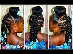 Just Another Bun Hairstyle | Little Girls | 4a Natural Hair [Video] - Black Hair Information