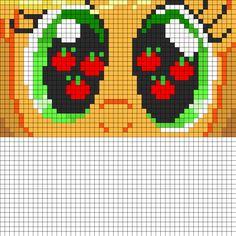 MLP Applejack Eyes perler bead pattern