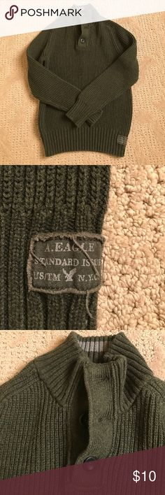 American Eagle 🦅 sweater Dark green sweater in great condition. No holes, stains, or tears. American Eagle Outfitters Sweaters