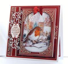 CHRISTMAS ROBIN & CHURCH 7.8 Quick Christmas Card & Insert - CUP832733_68 | Craftsuprint