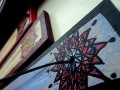 Sun Mandala Painting On Wood Original Wall Art Home