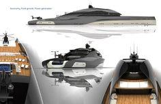 M/Y UNA 90m concept yacht by Graham Kukla