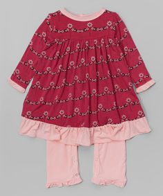 Look what I found on #zulily! Berry Wallpaper Skirted Playsuit - Infant #zulilyfinds