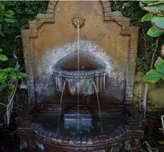 This tiered wall fountain is perfect for adding soothing sounds to a small outdoor space.