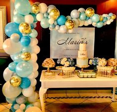 50 party Plus Size plus size kimono robe Balloon Backdrop, Balloon Garland, Balloon Decorations, Baby Shower Decorations, Baby Girl Baptism, Baptism Party, Baby Party, 50th Party, Birthday Party Decorations