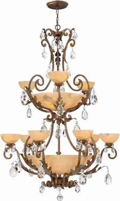 Hinkley Lighting FR44107 2-Tier Chandelier from the Barcelona Collection Alabaster Chandeliers - Brand Lighting Discount Lighting - Call Brand Lighting Sales 800-585-1285 to ask for your best price!