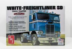 AMT 1004 White Freightliner SD Tractor 1/25 New Truck Model Kit - Shore Line…