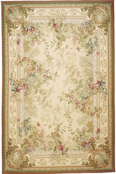 rococo rug | Home > Colors > Green rugs > Rosemont Aubusson Rug