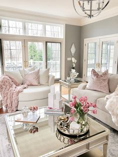 Stylish Home Decor & Chic Furniture At Affordable Prices Glam Living Room, Home And Living, Living Room Decor, Pink Living Rooms, Stylish Home Decor, Cheap Home Decor, Pink Home Decor, Living Room Inspiration, Home Interior Design