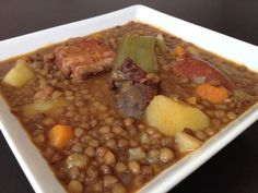 Discover recipes, home ideas, style inspiration and other ideas to try. Chorizo Recipes, Lentil Soup Recipes, Mexican Food Recipes, Diet Recipes, Cooking Recipes, Healthy Recipes, Boricua Recipes, Spanish Dishes, Peruvian Recipes