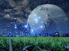 la luna es hermosa