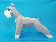 Vista lateral de perro schnauser Paper Toy, Paper Crafts, Bird, Animals, Craft, Paper Sculptures, Handmade Envelopes, Paper Envelopes, Mausoleum At Halicarnassus