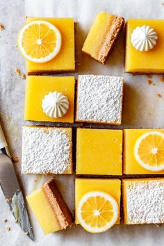 With creamy, tangy lemon curd and a salty-sweet almond flour shortbread crust, these gluten-free lemon bars are just the thing to make when life hands you all the lemons. Dessert Sans Gluten, Gluten Free Desserts, Dessert Recipes, Keto Brownies, Meyer Lemon Bar Recipe, Bojon Gourmet, Shortbread Crust, Lemon Bars, Crust Recipe