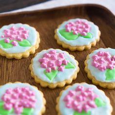 あじさいのアイシングクッキー|レシピブログ