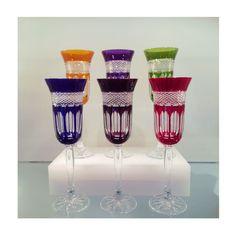 Flûte à champagne en cristal, Service Mireille